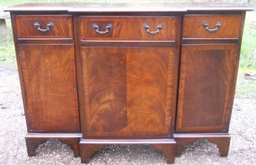 Small Mahogany Breakfront Sideboard